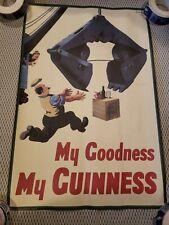 Vintage My Goodness My Guinness Steam Shovel Poster Guinness Museum Dublin beer