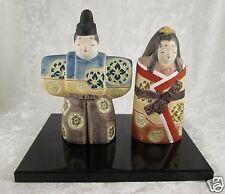 Japanese ceramic Hina Matsuri Dolls Ningyo Emperor Empress 4.5in H doll Vintage