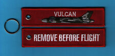 Vulcan Remove Before Flight embroidered Key Ring/Tag - New