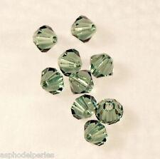 50 perles toupies en cristal de Swarovski 5301 Erinite 4 mm