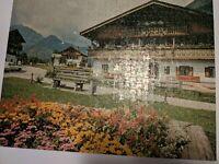 1975 Milton Bradley Big Ben Puzzle 8. Austrian Home 1000 Piece Jigsaw Puzzle