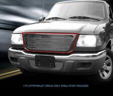 Fits 2001 2002 2003 Ford Ranger XL/ XLT 2WD Billet Grille Front Main Upper Grill