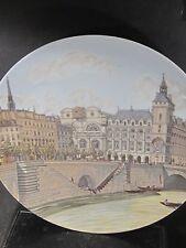 De Paris France QUAI AUX FLEURS Paris Scene  Ltd Ed Plate