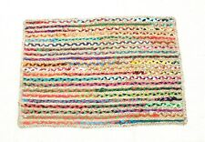 Home Decoration Rug multi color Rugs Indian Hand loom Braided Handmade Rag Rug,