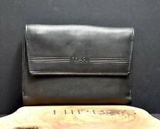 UMI Design Leather Bifold Wallet with Snap Closure Black