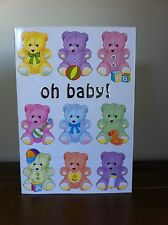 Proud Parents Greeting Card Multiple Babies - New Baby/Babies - Boy/Girl - Teddy