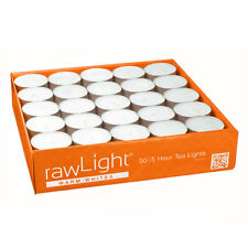 TEA LIGHT CANDLES - 50 Pack - 5 Hour - White - Unscented
