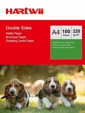 A4 220Gsm Matte Matt Double Sides Photo Paper Inkjet Laser Jet  - 100 Sheets