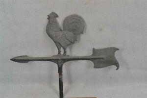 old rooster weather vane metal top arrow 18 in early 1900