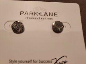 """NIB Park Lane """"DOTTIE"""" Pierced Earrings HEMATITE  RV $22"""