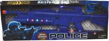 Morris Costumes Blue Police Action Rifle With Lights Sound Vibration. TT11023