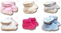 Baby Toddler Boys Girls Warm Fleece Slippers Shoes Booties Dino Size 6-12m