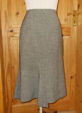 RIANI black grey tweed Steampunk Victoriana asymmetric waterfall midi skirt 12