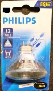 Philips Halogen 50w GU5.3 12V 4000h 50mm 24° Clear Reflector Lamp New Ob 413253