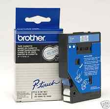 Brother TC203 12MM blue on white Label Tape for P-TOUCH