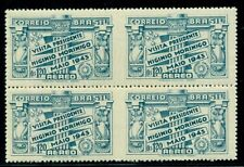BRAZIL #C48v 1.20cr Airmail Blk of 4, IMPERF VERTICALLY BETWEEN PAIRS ERROR NH