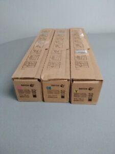 Xerox WorkCentre 7120 7125 7220 7225 Toner Cartridge Yellow Magenta Cyan Genuine