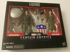 Marvel Legends Series First Avenger Captain America Peggy Carter 2 Figure Pack