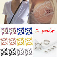 Adjustable Screw Nipple Ring Shield  Fake Piercing Body Jewelry Non-Piercing
