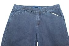 Women's Bill Blass Jeans 8P 8 Petite Dark Blue Denim Pants