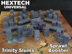 HEXTECH - Trinity City Slum Booster - Epic 40k - Battletech - Scenery - 6mm - AT