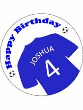 Football Shirt Blue Personalised Stickers 24 x 45mm Birthday Party Gift 42