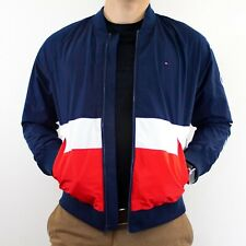 NWT Mens Tommy Hilfiger Navy Blue Bomber Jacket With...