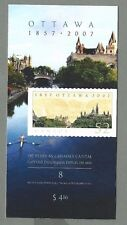 CANADA 2007 Booklet - CAPITAL CITY - OTTAWA 1857 - 2007 (8 @ 52c) Complete - MNH