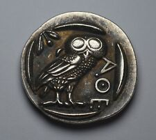 Ancient Greek Silver Athenian Tetradrachm Coin 450BC. Owl of Athena. 28mm 11g.