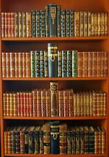 97 DECORATIVE ANTIQUE LEATHER BOOKS -  GOLD DECOR -  LIBRARY -  FREE SHIPPING