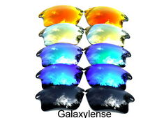Galaxy Replacement Lenses For Oakley Fast Jacket XL Black&Blue&Green&Gold&Red 5P