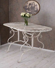 Garden Table Shabby Chic Kitchen Table Metal Iron Table Vintage Garden Table