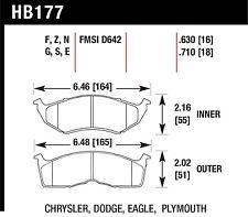 Hawk Performance HB177S.630 Designed For High Deceleration Rates Disc Brake Pads