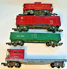 'S' Gauge American Flyer - 4 Freight Car Lot: #630/  #631/ #633 / #645