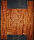 Guitar Luthier Tonewood EXHIBITION QUILTED SAPELE Acoustic backs sides SET