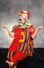 "Adult Clown Costume OSFM Top Pants Purse + 2 Hats, 2 Collars, 2 pr Socks ""Happy"""