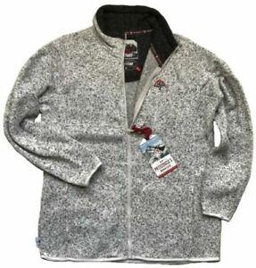 WOMENS WHITE Fleece Hiking Warm Anti Pill Cardigan Full Zip JACKET Jumper 10-20