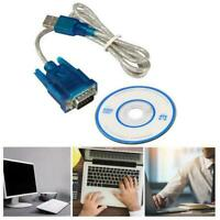 USB to RS232 Serial Port 9 Pin Male COM Port Converter Cable Adapter R4W9