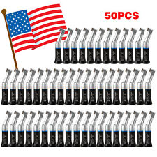 50X NSK Style Dental Low Slow Speed Handpiece Contra Angle Latch Black USPS Ft7B