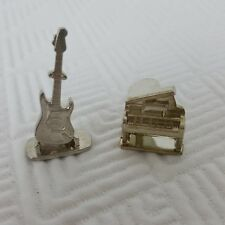 Mattel Scene it Music Board Game Replacement Parts 2 Tokens Piano Guitar 2005