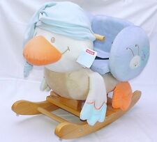 Nattou Rocking DUCK LES ZAMIS + Buckle Early Learning Kids Toy Wood + Plush NEW!
