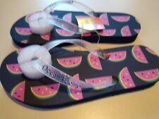 Ocean Pacific Girl's Flip Flop Sandals Szs 2, 3 Multicolor Watermelon Slices