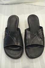 CLARKS Womens Sandals Size 8.5M Black Genuine Leather