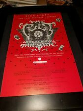 The Cult Love Removal Machine Rare Original Radio Promo Poster Ad Framed!