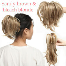 100% NEW Short Ponytail Claw Thick Hair Extensions Clip In Pony Tail As Human K8
