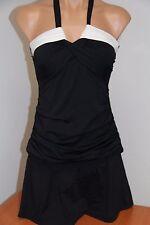 NWT Anne Cole Swimsuit Bikini Tankini 2 pc set Sz M Skirt Bandeau BKWH
