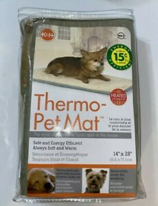 """K&H Heated Thermo Pet Mat/  Plug in Safe & Energy Efficient/ Soft/ 14""""x28""""(New)"""