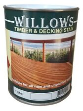 Willows Timber Deck Furniture Window Beams Stain Paint OiL Based 1L Redwood