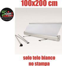 ESPOSITORE ROLL UP ROLLUP BANNER 100X200 NO STAMPA SOLO BIANCO  BORSA MONTAGGIO.