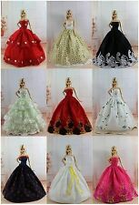 Lot 20 items= 10 Princes Dress/Wedding Clothes/Gown+10 shoes For Barbie Doll S18